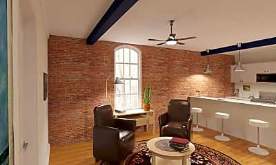 Living Room, Spencer's Mill Apartments, 2