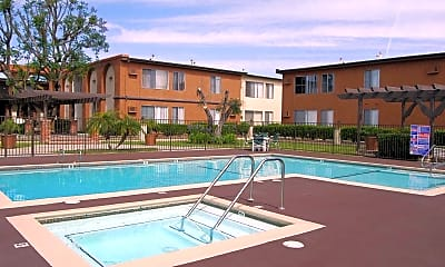 Pool, Sunset Pointe Apartments, 1
