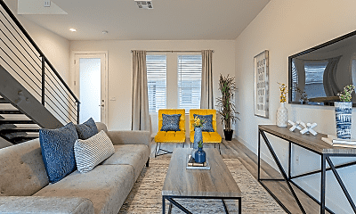 Living Room, Park Central Luxury Townhomes, 2
