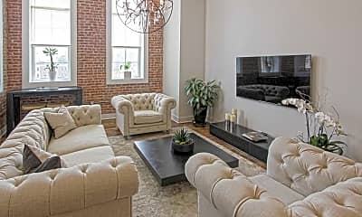 Living Room, Hudson Lofts, 1