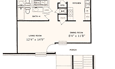 Lions Court Apartments:  1200 Thompson Road, 1