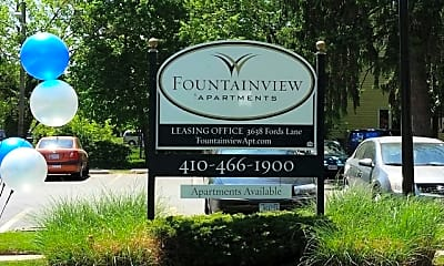 Community Signage, Fountainview Apartments, 2