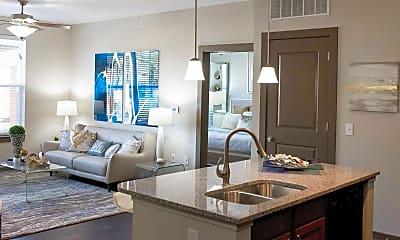 Living Room, Austin Park Apartments, 1