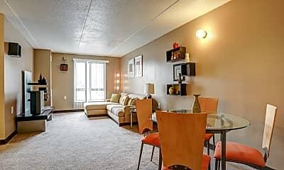 Living Room, Pallister Plaisance Apartments, 1
