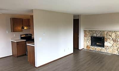 Living Room, Greenwood Vista Apartments 11541 Greenwood Ave N, 1