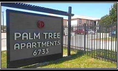Community Signage, Palm Tree Apartments, 0