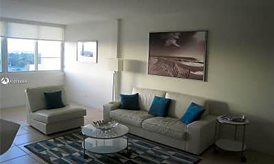 Living Room, 5005 Collins Ave 804, 1