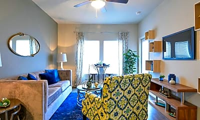 Living Room, Canyon House Apartments, 1