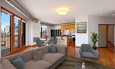 Living Room, 15 E Franklin Ave 306, 1