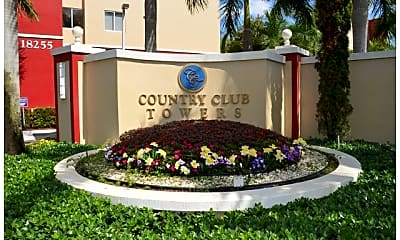 Community Signage, Country Club Towers, 0
