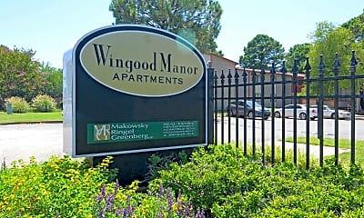 Community Signage, Wingood Manor, 2