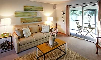 Living Room, Village Park Apartments, 1