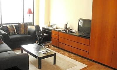 Living Room, 200 Rector Pl 5N, 0