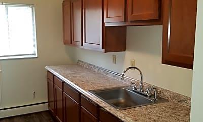Kitchen, Congress Run Apartments, 0