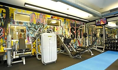 Fitness Weight Room, Dunhill Design District, 2