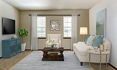 Living Room, Parkview Senior Homes, 1