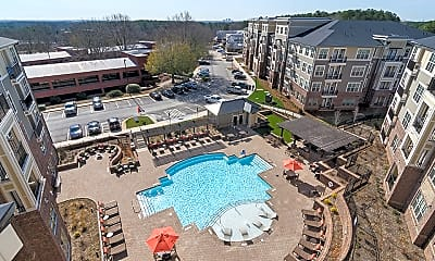 Pool, Meridian at Sutton Square Apartments, 2