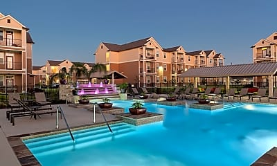 Pool, Oak Forest Apartments, 2