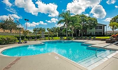 Pool, Saratoga Apartments, 1