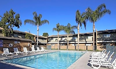 Pool, Valley Springs Apartments, 2