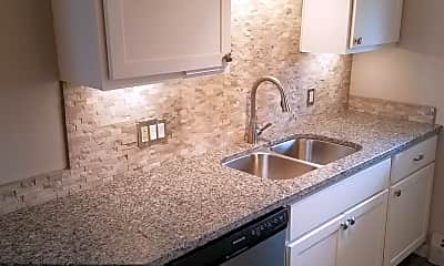 Kitchen, Top of the Hill Apartments, 1