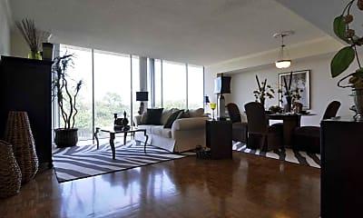 Living Room, The River Oaks High Rise, 1