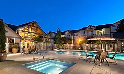 Pool, The Hawthorne Apartments, 0