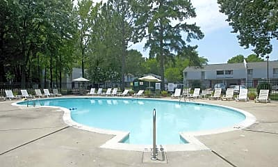 Pool, Willow Oaks Townhomes, 1