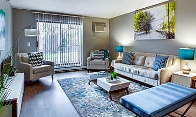 Living Room, Twelve 501 Apartments, 0