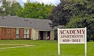 Community Signage, Academy Apartments, 1