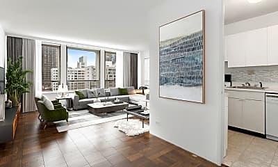 Living Room, 300 E 33rd St 10-F, 1