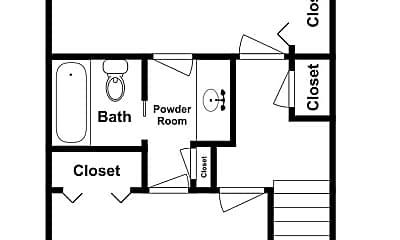 Bathroom, 1605 Hackberry Ln, 2