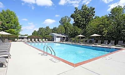 Pool, Portage Pointe Apartments, 1
