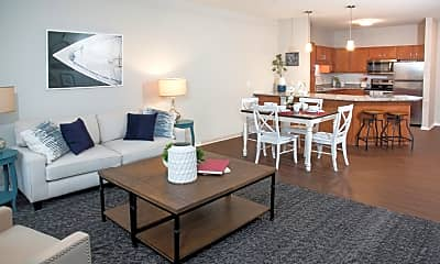 Living Room, Waterstone Place Apartments, 1