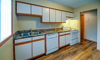 Kitchen, Clark Place Apartments and Townhomes, 0