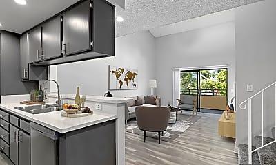 Living Room, Woodridge Apartments, 1
