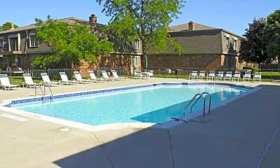 Pool, Corner Place Apartments, 0
