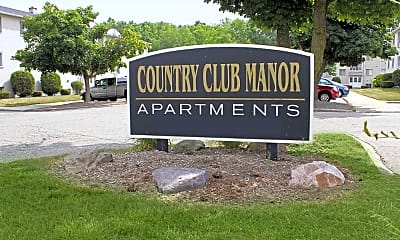 Community Signage, Country Club Manor Apartments, 2