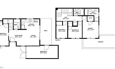 Bedroom, 1032 36th St, 2