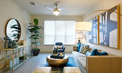 Living Room, Everly Apartments, 1