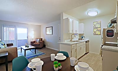 Dining Room, Country Gables Apartments, 1
