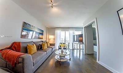 Living Room, 9195 Collins Ave 906, 1