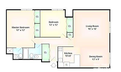 Living Room, 1243 Beacon St, 2