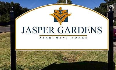 Community Signage, Jasper Gardens, 2