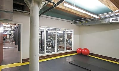 Fitness Weight Room, Lucas Place Lofts, 2