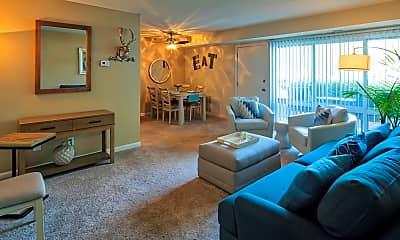 Living Room, North Shore Gardens Apartments, 1