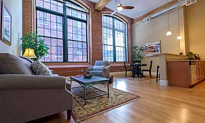 Living Room, Pacific Mill Lofts, 0