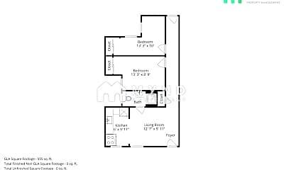 Bedroom, 518 Bryant St, 2
