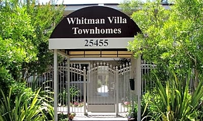 Community Signage, Whitman Villa Townhomes, 1