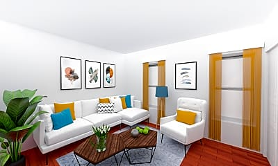 Living Room, 60 Walden Street,  Unit 1, 0